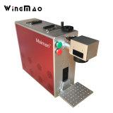 Machine plus vendue d'inscription de laser de fibre en métal pour la borne de laser de matériel et d'imprimante