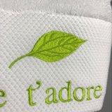 La coutume de bonne qualité douce 100% coton blanc ordinaire de l'Hôtel des serviettes de face