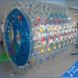 Bunte aufblasbare Wasser-Rollen-Kugel auf See oder Swimmingpool
