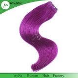 Оптовыми перуанскими покрашенные человеческими волосами волосы Remy волос Weft