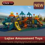 Speelplaats van de Kinderen van de Prijs van de Fabriek van China de Openlucht Plastic (x1507-10)