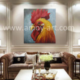 高品質の壁の装飾のためのハンドメイドのオンドリヘッド油絵
