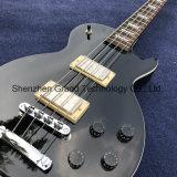 Guitare basse électrique neuve de 4 chaînes de caractères dans le noir (GLP-66)