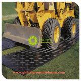 A atividade exterior de cor preta tapetes Antiderrapagem UHMWPE Tapetes de protecção do solo de material reciclado