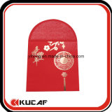 Custom Hot Stamping + relieve suave toque de sobres de papel rojo