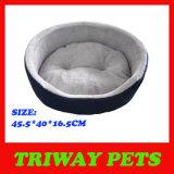 Dril de algodón y franela espuma cama del animal doméstico (WY161028)