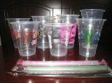 [بّ] فنجان مستهلكة بلاستيكيّة مع صنع وفقا لطلب الزّبون علامة تجاريّة
