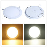 luz redonda de la llanura de iluminación de la lámpara del panel de techo de 24W LED