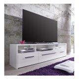 Fernsehapparat-Standplatz im Weiß mit Glanz-Vorderseite und LED-Beleuchtung