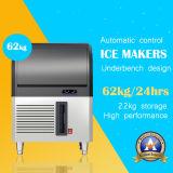 Autoportante máquina de hacer hielo en acero inoxidable - 60kg