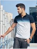 Chemise de polo classique d'Ombre de maille de chemise en bonne santé de circuit