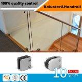 Corrimão de vidro alpendre exterior com a braçadeira de vidro em aço inoxidável