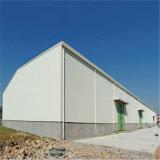 Gruppo di lavoro prefabbricato della struttura d'acciaio dell'ossatura muraria del metallo del magazzino