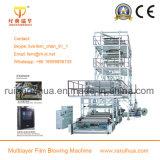 Máquina de soplado de plástico de extrusión de película de PE de tres capas Co