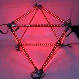 Madrix制御音楽によって作動するLED RGB DMX流星の管
