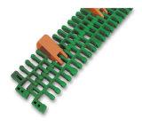 Correia modular plástica material da parte superior lisa de Is615 PP para a máquina do transporte