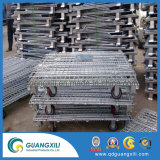 Serviço Pesado de dobragem colapsáveis rolo de transporte de contentores de malha de arame