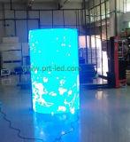 Afficheur LED polychrome personnalisé du cylindre P10 avec l'intense luminosité (DIP346)