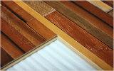 Vente en gros de bois de construction Hickory Revêtement de sol stratifié à rayures cirées