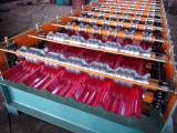 A telha fria das etapas cobre a maquinaria de rolamento