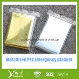 Manta de aluminio de emergencia para primeros auxilios