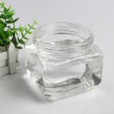 Quadratische Glasware-Honig-Flasche für Essiggurken und Nahrung