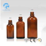 1oz bernsteinfarbige Boston runde Glasflasche für pharmazeutische flüssige Medizin