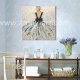 Nice Dame Olieverfschilderijen op Canvas voor Huis of Bureau Decoration