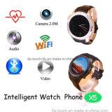 مستديرة شاشة [3غ] ذكيّة ساعة هاتف دعم [ويفي] لاسلكيّة إنترنت ([إكس5])