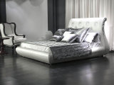 2016의 새로운 수집 침대 최신 판매 침대 Ls 413 디자인 호텔 침대 이탈리아 가짜 가죽 침대 퀸 배드