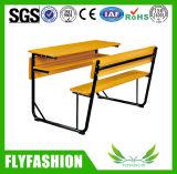 두 배에 의하여 붙어 있는 책상 및 의자 학교 가구 (SF-51D)