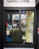 Doppia finestra di scivolamento di alluminio lustrata grigia resistente
