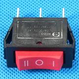 On-off en el botón rojo el interruptor basculante T85.