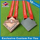 Taekwondoメダル合金のカスタムロゴのリボンメダル