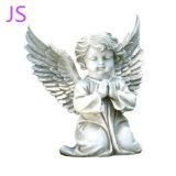 Мало Handcarved религиозных Prayingf Angel скульптура из белого мрамора