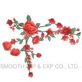 Ferro barato do vestido da flor da forma por atacado em correções de programa de Rosa do bordado