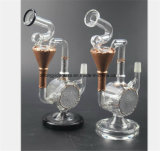 Silber-und Goldtransparentes Huka-Glasgefäß