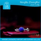 Pendente dei monili del Lazuli di Lapis dell'argento sterlina 925 e prugna Serie 2 dell'anello