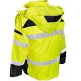 Куртка водоустойчивой высокой зимы нашивок безопасности дороги видимости равномерной отражательной с капюшоном