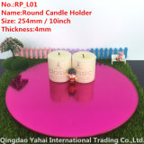 4mm Large Round Rose Glass Mirror Candle Holder