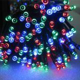 異なったサイズの太陽LEDの妖精のクリスマスストリング