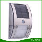 Lampe solaire d'éclairage de mur de jardin d'usine de frontière de sécurité solaire extérieure en gros d'éclairage LED pour le bas-côté