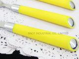 Lepel van het Roestvrij staal van de Lepel van het Handvat van de lepel de Plastic Goedkope
