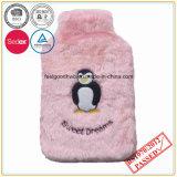 Kuh-Stickerei-Rosa-Farbefaux-Pelz-Heißwasser-Flaschen-Deckel