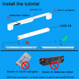 tubo di 180lm/W 10W LED T8