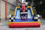 Doble tobogán inflable, tobogán inflable interactivo, juegos inflables Deportes
