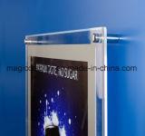 Scheda chiara di cristallo di pubblicità sottile del LED