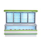 Congelatore a doppia temperatura di Combi per il supermercato