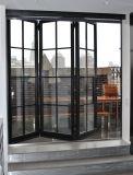 Wrougth Eisen, das französische Bifold Türen mit ausgeglichenem Glas schiebt