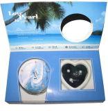 Il desiderio Pearlgift 3-PCS della perla di amore dell'oceano ha fissato (5 colori) la versione inglese